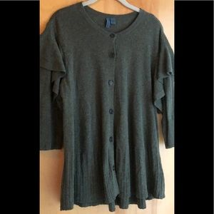Anthropologie Left of Center olive green sweater L
